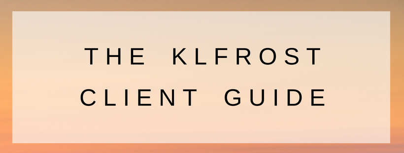 button for klfrost client guide