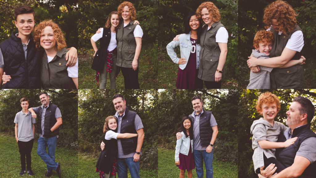 picture of mom with each of her children alone and dad picture of each of his children alone