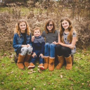 image of kristin's children in a meadow | klfrost photography